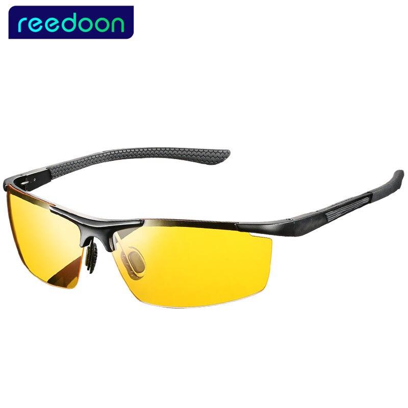 Vente chaude hommes en aluminium-magnésium de pilotes lunettes de vision nocturne de voiture anti-éblouissement lunettes de soleil polarisées Polarisées Conduite Lunettes