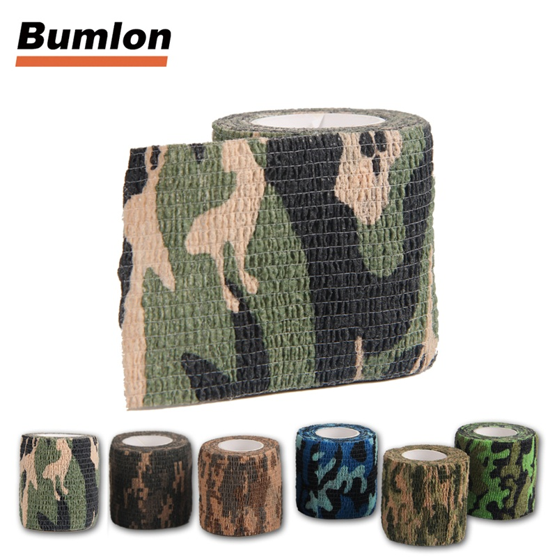 2PCS/lot Adhesive Tape Telescopic Stretch Bandage Camo Hunting Camouflage Tape for Gun Cloths Camera Flashlight Bicycle RL9-0001 brompton stickers