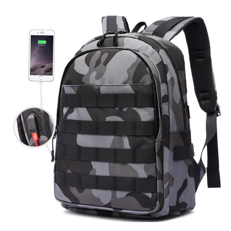 Men Bag Knapsack Infantry-Pack Pubg Backpack Canvas School-Bags Battlefield Multi-Functional