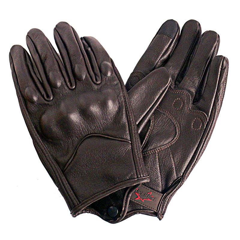 New Motorcycle Gloves Men Touch Screen Leather Electric Bike Glove Cycling Full