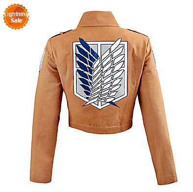 Attack on Titan Shingeki No Kyojin Eren Jager Scouting Corps Cosplay Jacket