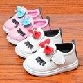 Niñas Infantiles otoño PU Leather Butterfly-nudo Arco Bebé Zapatos Ocasionales de Los Niños de Los Holgazanes Sapatos