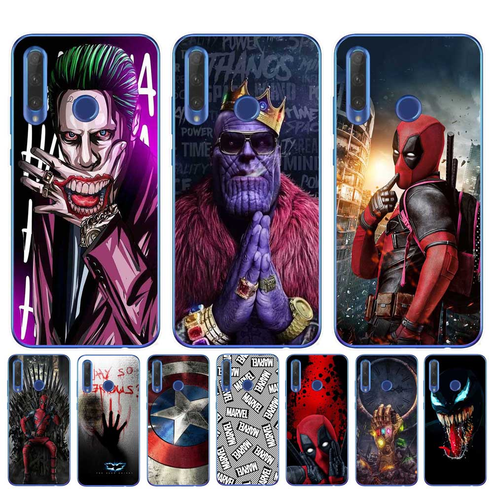 Marvel DC Comics Iron Man Spider-Man joker Batman TPU Cover Phone Case for Huawei Honor 9 10 20 Lite10i 8X 8C 6X 7X Fundas Capa image