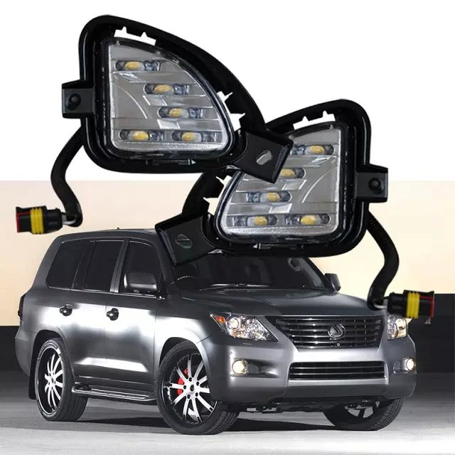 New arrival LED DRL daytime running light for Lexus LX570 2007-2009, top quality, super bright, waterproof, dim control top quality led drl daytime running light for chevrolet chevy cruze 2009 2013 guiding light design super bright