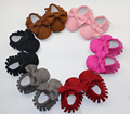 New Suede pu leather Newborn Baby Infant Toddler shoes baby Moccasins bow Soft Moccs Babe Soft Soled Non-slip Prewalker Shoes