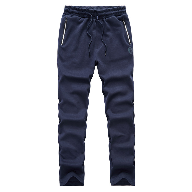 Outdoors Leisure Time Season Men's Knitting Pants Motion Leisure Time In Waist Solid Color Directly Canister Long Pants 7603