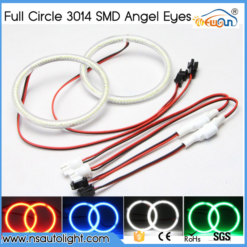 2pcs per pair led halo rings 12VDC 3014 SMD led angel eyes kits 72mm 80mm 100mm 105mm 110mm 115mm 120mm 125mm 140mm 145mm