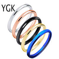 2mm Engagement Wedding Rings for Women Classic Men's Tungsten Ring Birthday Gift Anniversary Rings Party Jewelry Drop Shipping