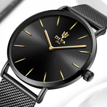 2017NewArrival Men's Clock Ultra Thin watches Top Brand Luxury Montre Homme Metal Watch Bracelets Relogio Masculino MilaneseBand