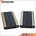 Poverbank de Carregamento Carregador Solar Power Bank 10000 MAH Portátil bateria externa de Carregamento de Bateria Externa Para Telefones celulares Tablet