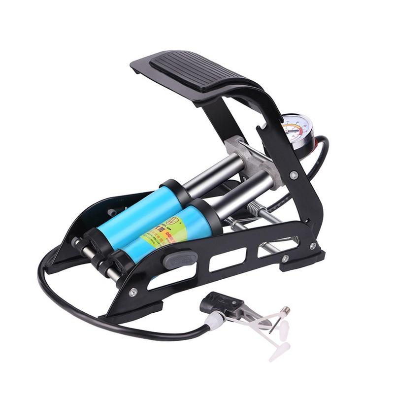 Vélo vtt vélo pied pompe à Air Portable haute pression en acier pompe antidérapante pour vélo voiture pneu pour Sports de plein Air