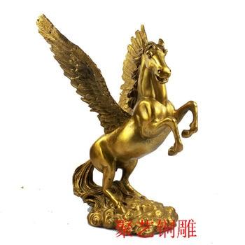 Poly art bronze light copper horse Pegasus ornaments a step you push money promotion