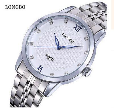 Longbo Brand Femme Marque Luxury Brand Watch Women Full Stainless Steel Ladies Men Analog Quartz-watch Hour Female Lovers' Clock