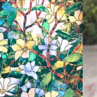 60センチ× 2メートル現代モクレンの花ガラスのステッカー浴室バルコニースライディングドアすりガラスフィルム3d不