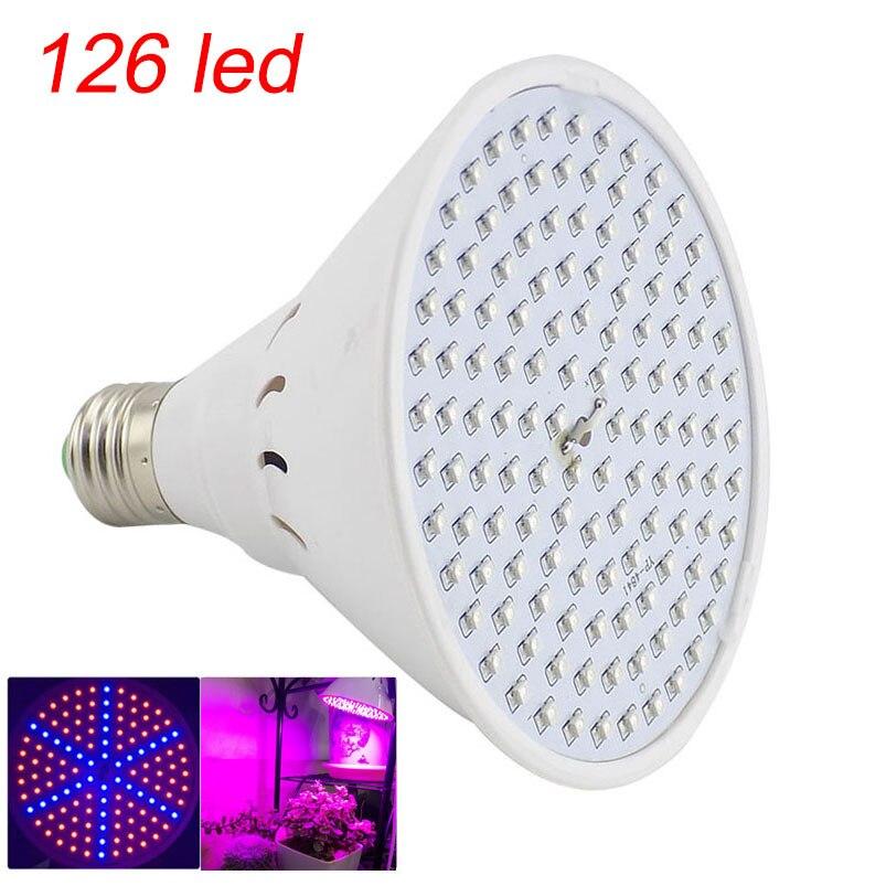 Полный спектр Светодиодная лампа для роста растений лампа светильник ing для семян гидро цветок теплица Veg Крытый сад E27 phyto growbox - Испускаемый цвет: 126 led