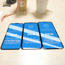 JOYCE 10D Screen Protector for iPhoneXr Xs Max X 5 5S 6 7 8  6S Plus Full Cover Protective Glass For iPhone8 7plus Shield film
