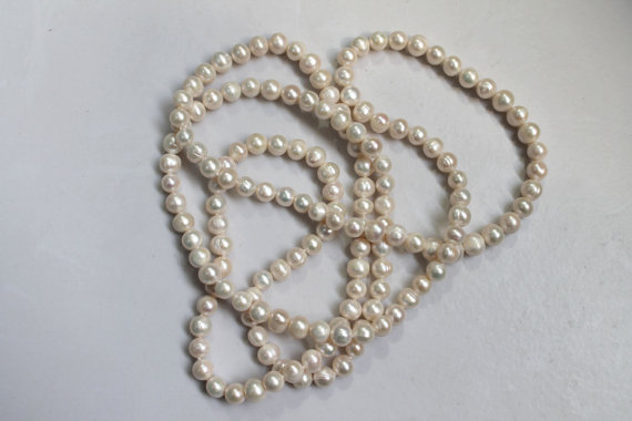 White Color 8-9mm Genuine Freshwater Pearl Rope Necklace 48 inches Long Pearl JewelleryWhite Color 8-9mm Genuine Freshwater Pearl Rope Necklace 48 inches Long Pearl Jewellery