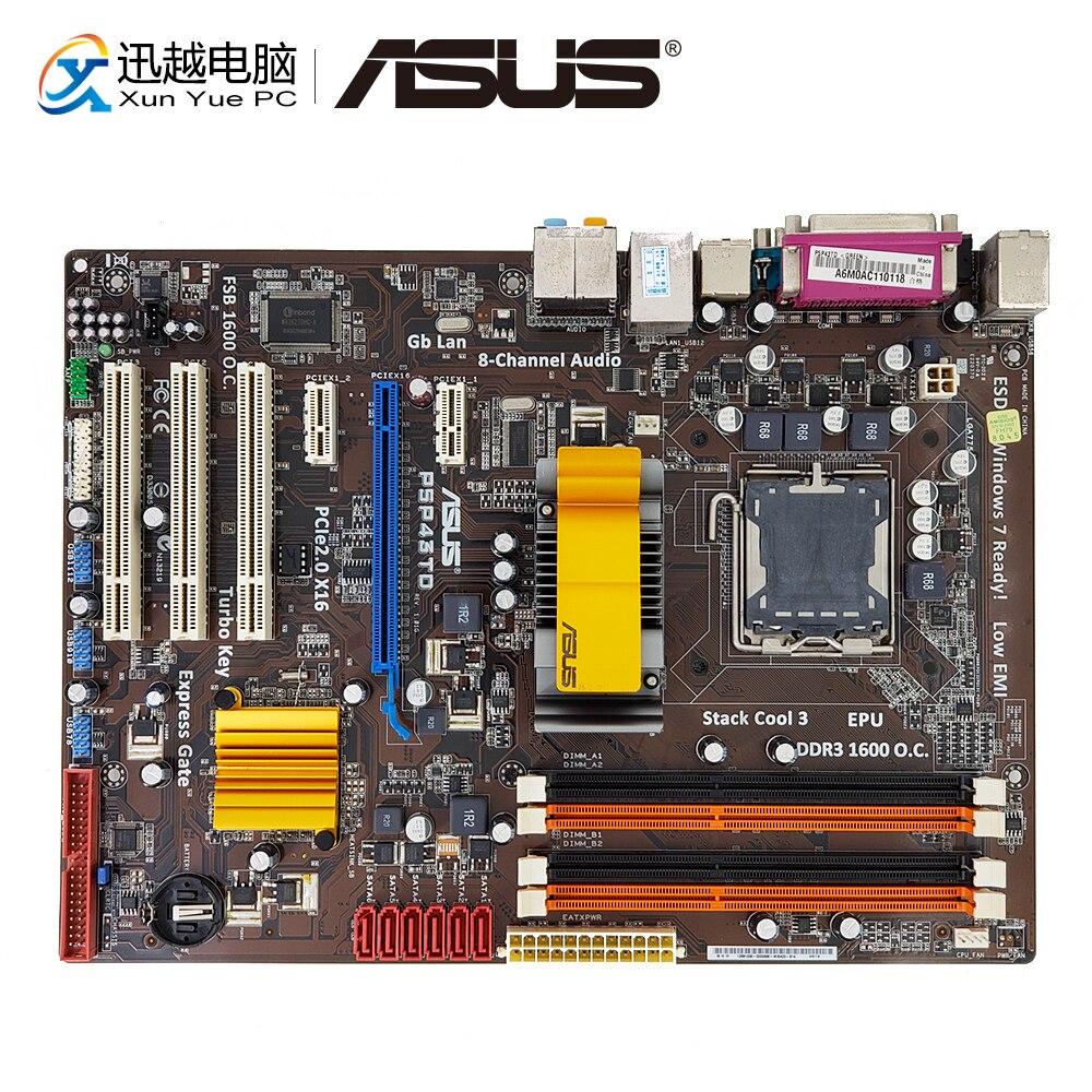 Asus P5P43TD Desktop Motherboard P43 Socket LGA 775 DDR3 16G SATA3 USB2.0 ATX On Sale free shipping original motherboard for asus p5p43td lga 775 ddr3 16gb usb2 0 p43 desktop motherboard