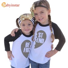 Babyinstar Family Matching Outfits Sisters Brother T-shirts Sping Autumn Boys Girls Long Sleeve Top Tees Family Fitted(China)