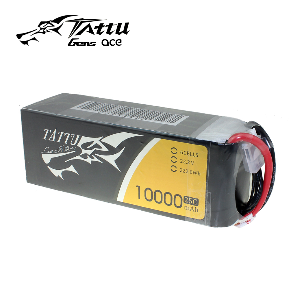 TATTU 6S Lipo Battery 10000mAh 22.2V 25C with XT90 Plug for RC Drone image