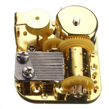 Hot Sale Unique 18 Notes DIY Mechanical Musical Box Golden Movement+Screws +Castle In The Sky Key Great Gift