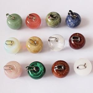 Image 3 - Pendentifs en pierres naturelles pour pomme, colliers à fruits, 2018, bijoux à breloques, 12 pièces, livraison en gros
