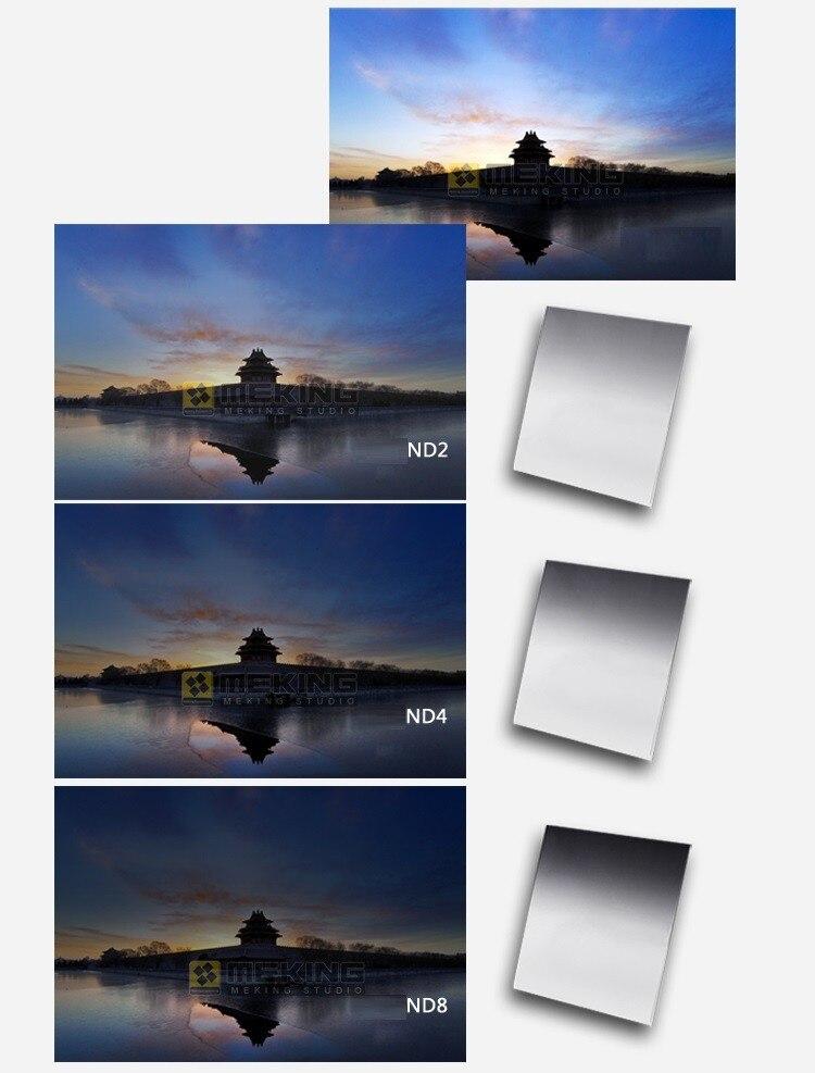 Meking квадратный градиентный цветной фильтр градиентный ND2 ND8 для Cokin P серии фотографических DSLR камер аксессуары 12 цветов на выбор