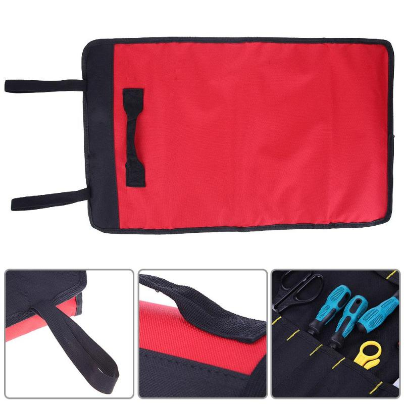 Hand Tool Sets 1pc Black Waterproof Oxford Cloth Practical Durable Unisex Zipper Storage Instrument Case Pouch For 600d Tools Set Bag Hand Tool