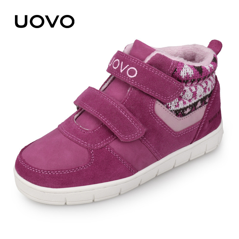UOVO Kids Casual Shoes 2018 New Fashion Boys And Girls Sneakers Autumn Winter Kids School Shoes Children's Footwear Size 27#-35#