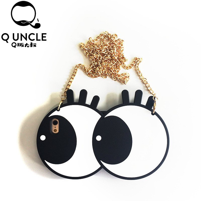 Q UNCLE 3D Cute Cartoon Big Eyes Eyeball Eyelashes Silicone