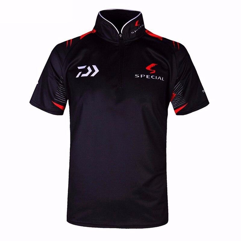 Daiwa Fishing Clothes Men UV Sunscreen Breathable Fiber  Shirt Fishing Clothing Profesional Short Sleeve Fishing Shirts