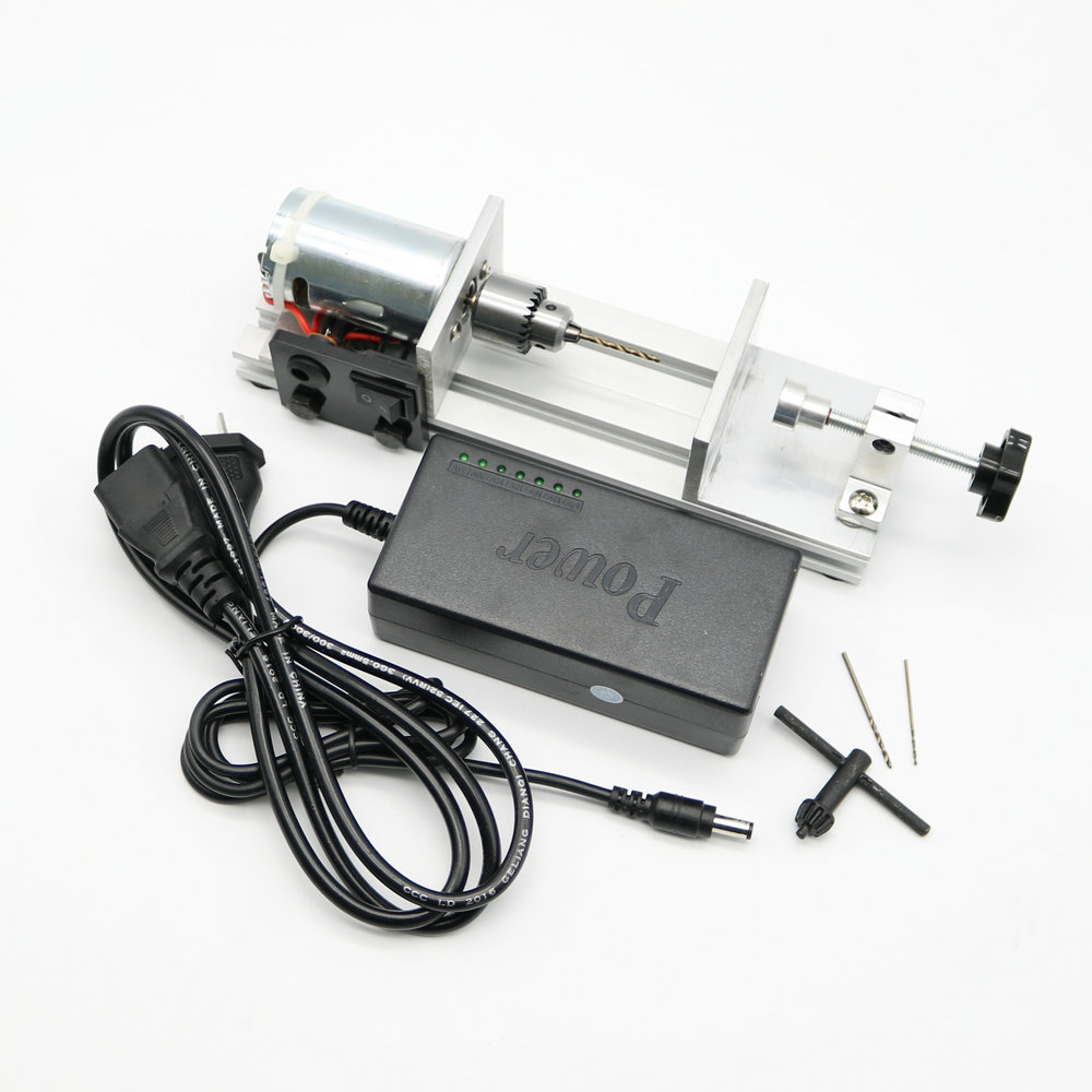 DIY Mini Beads Drill Presses Woodworking Machine Drilling Tool with Power Supply small micro beads polishing lathe cutting car beads machine mini diy woodworking turning lathe c00108