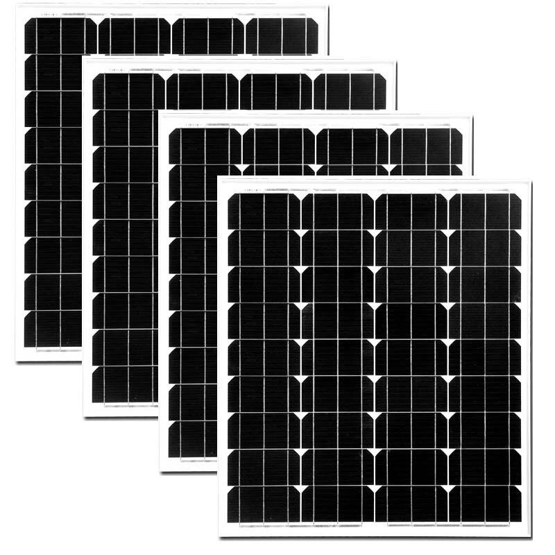 цена на Panel Solar 12v 70w Monocrystalline 4Pcs Photovoltaic Panels 280w Solar Battery Charger Solar Energy System Caravan Motorhome