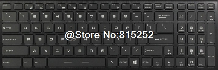 Laptop Keyboard For MSI GT73VR 6RE-013CN GT73VR 6RF-094CN United States US With Colourful Backlit/Without Backlit New rtdpart laptop keyboard base for asus t100 t100ta us the united states black 95