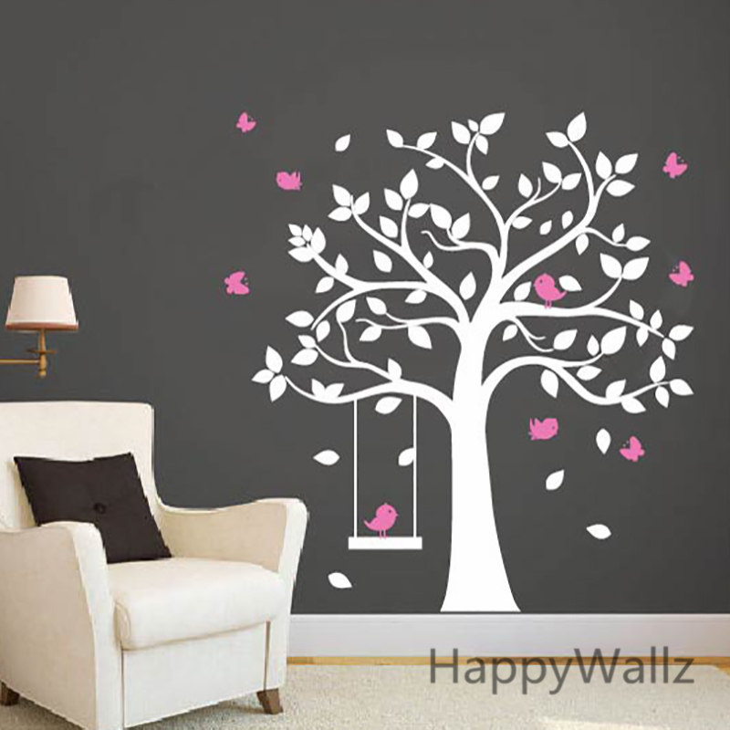 bird and tree wall stickers. Black Bedroom Furniture Sets. Home Design Ideas