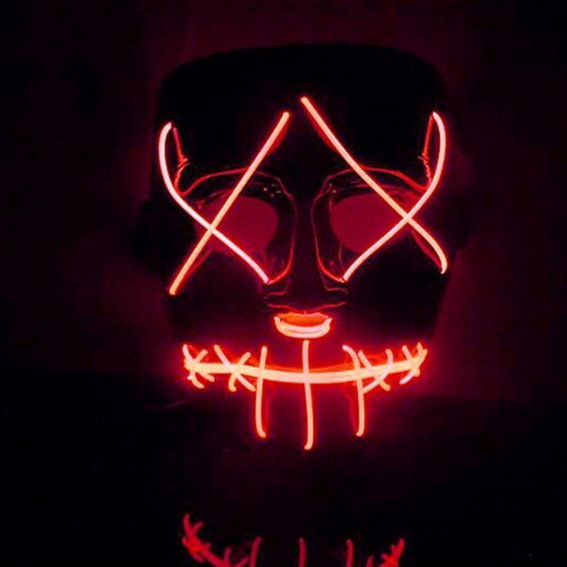 Hot Sale New Halloween Mask LED Light Up Funny Mask from The Purge Election Year Great for Festival Cosplay Halloween Costume