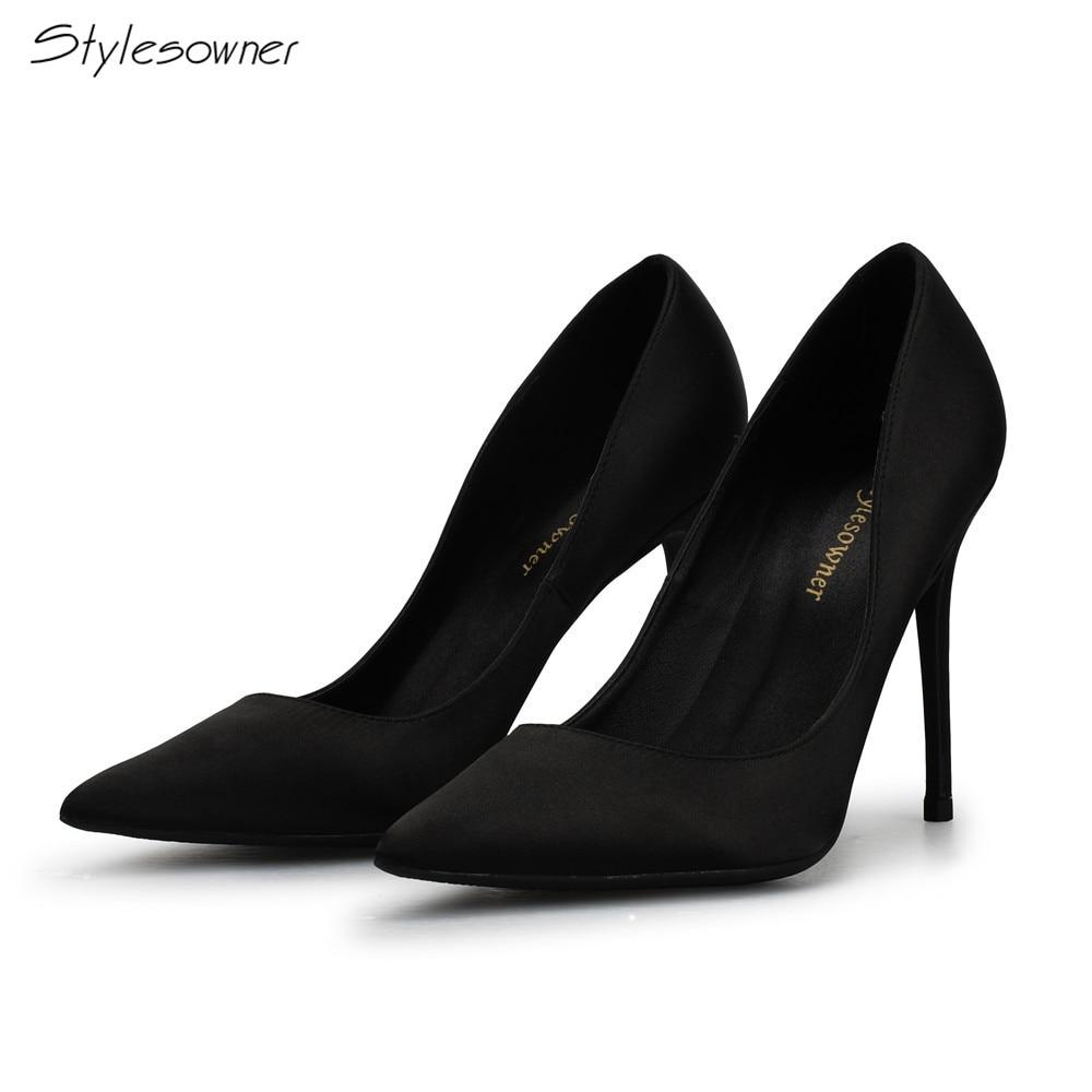 4e53309e3 Stylesowner Mulher De Salto Alto Preto Bombas de Salto Alto 10 CM Mulheres  Sapatos de Salto
