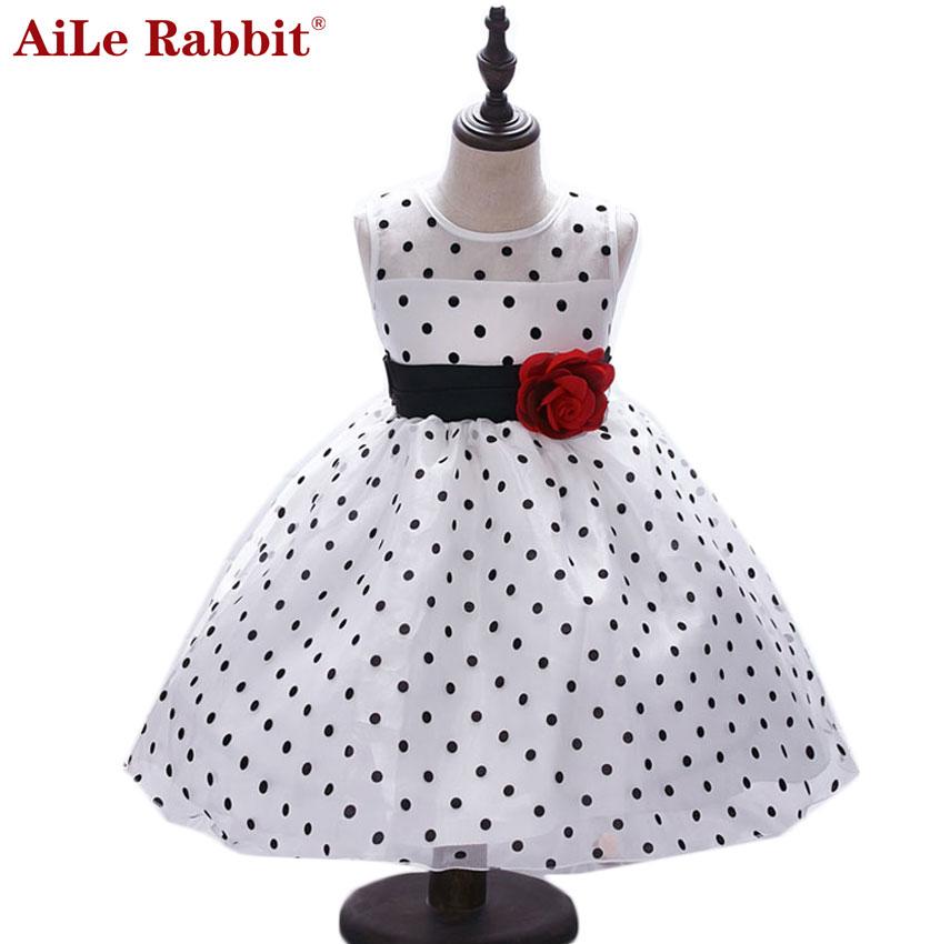 AiLe Rabbit New Arrival  Princess Summer Girl Dress Classic White - Children's Clothing - Photo 1