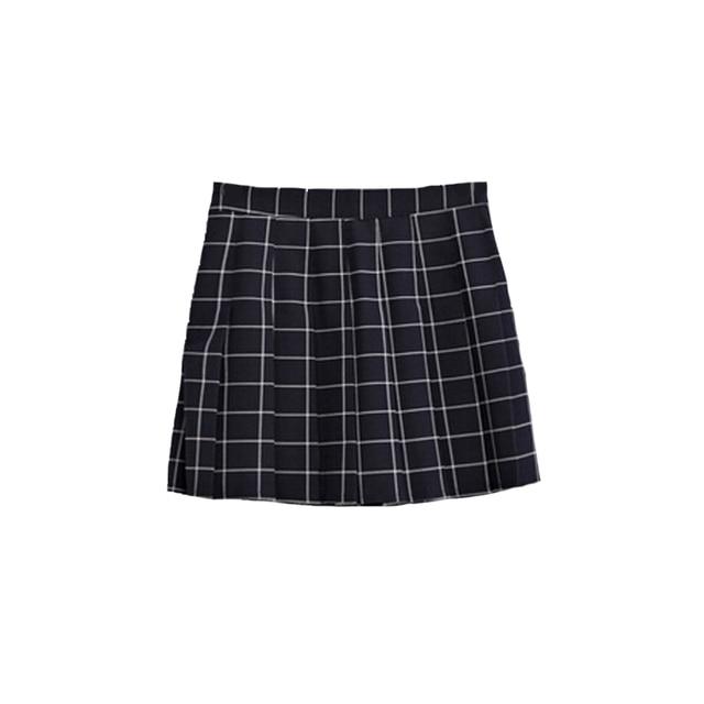 Harajuku Womens Tennis Skirts 2018 Korean Style Skirt Summer Plaid Pleated Skirt Rock Kawaii High Waist