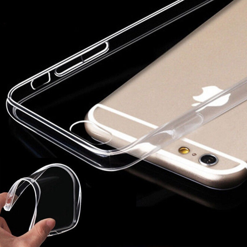 online retailer 51601 e7bb6 US $0.59 29% OFF|0.3MM Ultra Thin TPU Silicone Case For iPhone Xs Max XR X  Clear Crystal Soft TPU Case For iPhone 7 8 Plus 6 6S Plus 5S SE 5C 4S -in  ...
