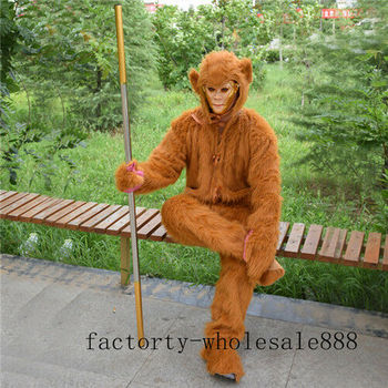 Sun Wukong monkey Mascot Costume Cosplay Party Game Dress Outfits Clothing Advertising Carnival Halloween Easter Festival Adults