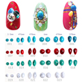 50 Unids/set 3D Decoración de Uñas Grieta Natural Piedra Base Plana Del Arte Del Clavo de Accesorios 23 Colores