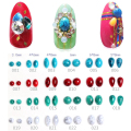 50Pcs/set 3D Nail Decoration Natural Crack Stone Flat Base Nail Art Accessory 23 Colors