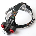 3800LM Cree XM-L T6 Led Headlamp Zoomable Headlight Waterproof Head Torch flashlight Head lamp Fishing Hunting Light