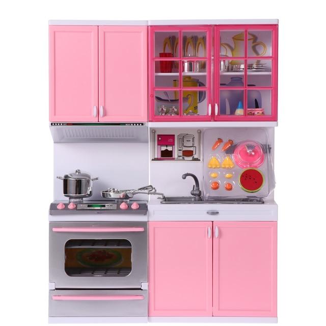 Multifunctional Kids Kitchen Pretend Cooking Toy Plastic Kitchenware