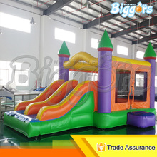Double Slide Popular Inflatable Bouncer Jumper Castle Bounce House For Sale