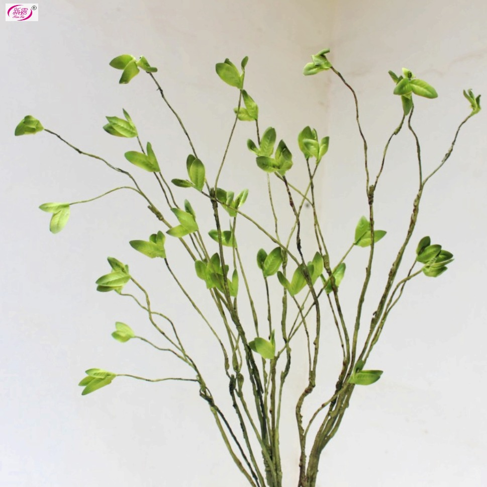 L131 Green Leaf Foliage twig Free Shipping Artificial green plant high simulation wedding decoration home house using