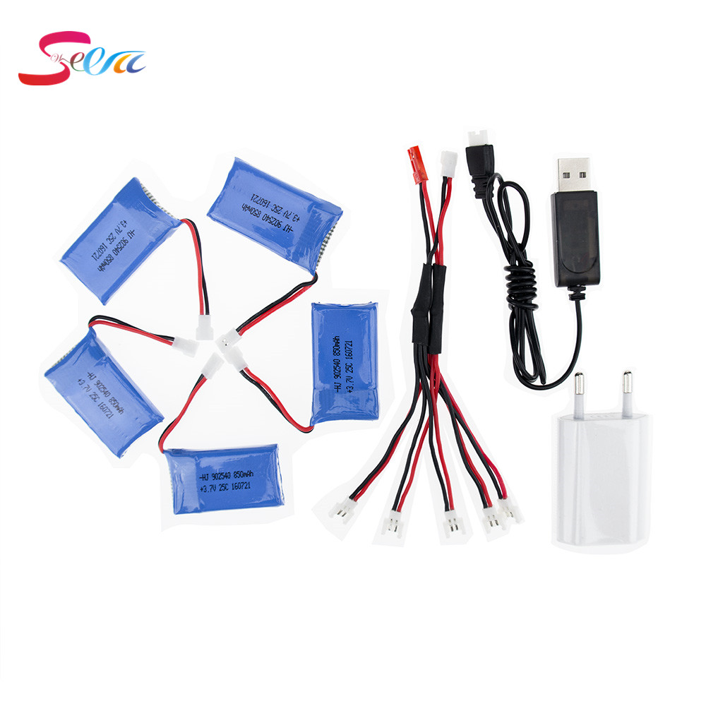 Syma X5C rc 3.7v 850mah Lipo battery 5pcs and USB charger with plug for syma x5 x5sw x5sc cx30 cx30w Helicopter drone part rc drone lipo battery 850 mah li po battery for syma x5c x5sw with 5in1 charger box for x5 x5a x5sc x5sw mjx x705c x6sw