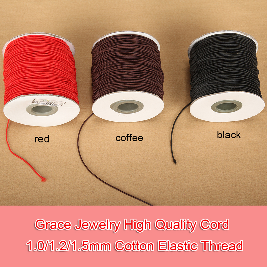 200 Merters Mixed Color Korean Waxed Cord String 1mm Simulation Leather Cord