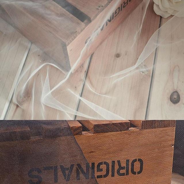 5 mètres 1.2 largeur Blanc/Noir TRÈS Doux Drapé De Mariage Net Voile Tulle De Mariée Tissu, de mariage voile